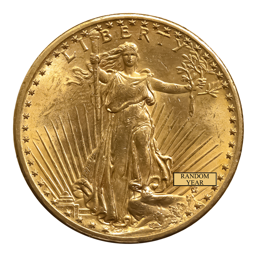 Early Gold Bullion $20 Saint Gaudens Uncirculated