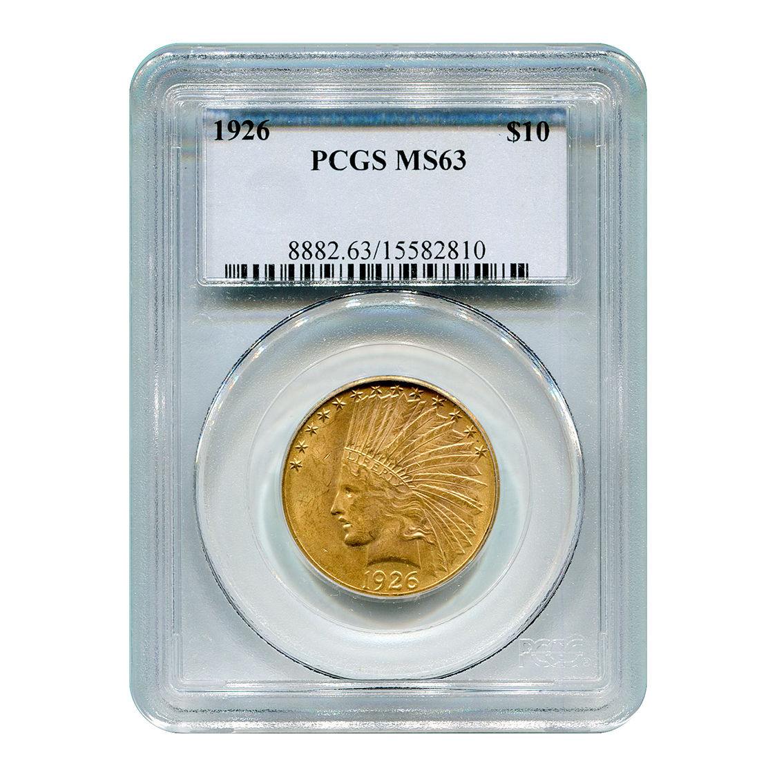 Certified US Gold $10 Indian 1926 MS63 PCGS