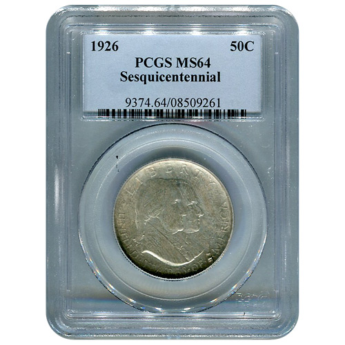 Certified Commemorative Half Dollar Sesquicentennial 1926 MS64 PCGS