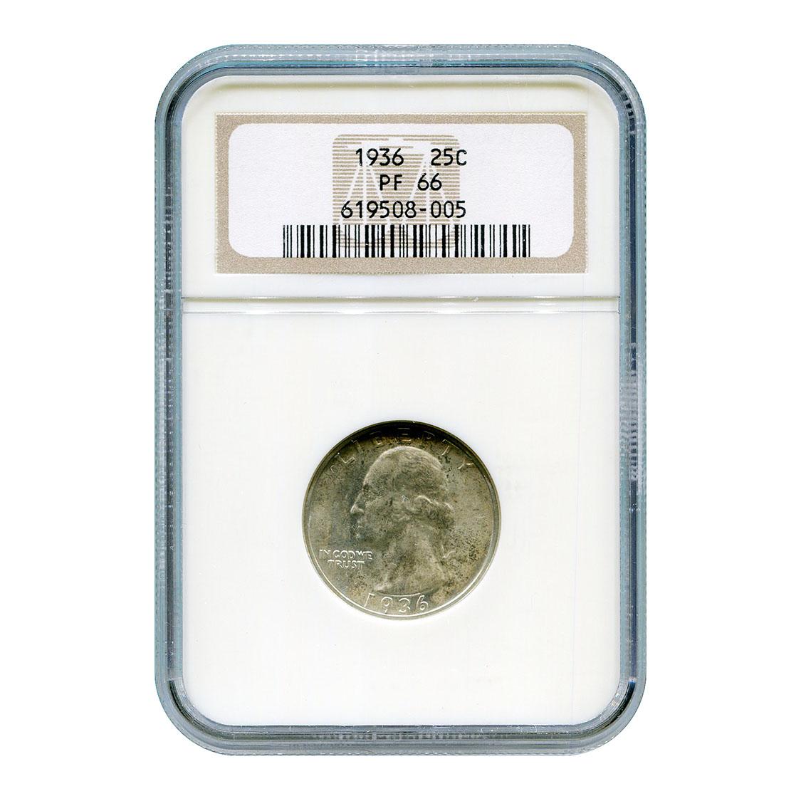 Certified Proof Washington Quarter 1936 PF66 NGC