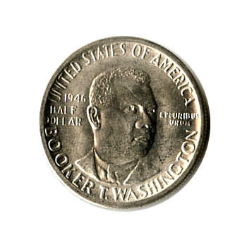 US Commemorative Half Dollar 1946-S Booker T Washington BU