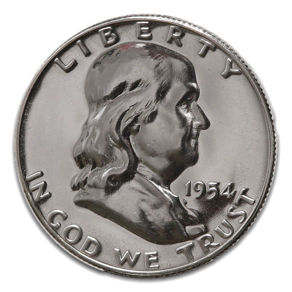 Proof Franklin Half Dollar 1954