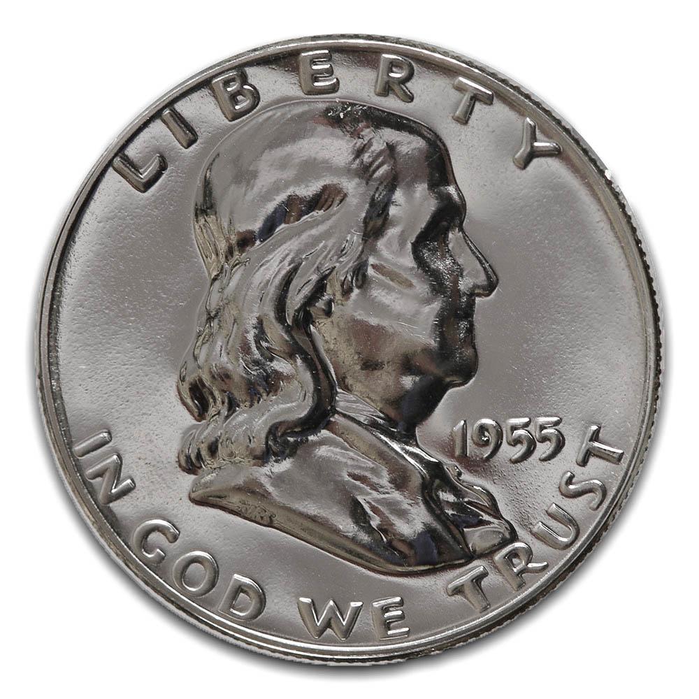 Proof Franklin Half Dollar 1955
