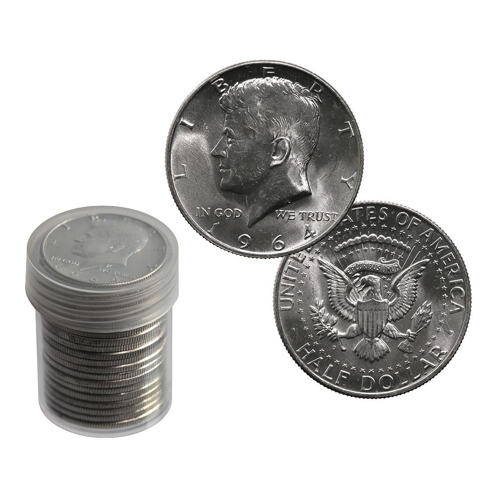 90% Silver Kennedy Halves Roll BU 1964-D (20pcs.)