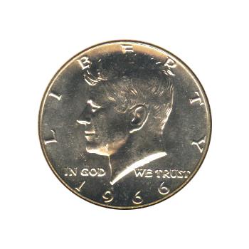 Kennedy Half Dollar 1966 BU