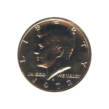 Kennedy Half Dollar 1972-D BU