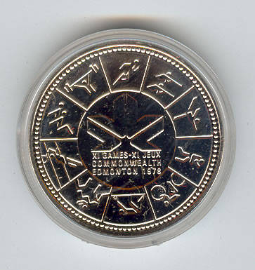 Canada 1978 silver dollar Commonwealth Games