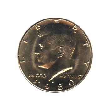 Kennedy Half Dollar 1980-D BU