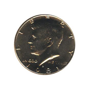 Kennedy Half Dollar 1981-D BU