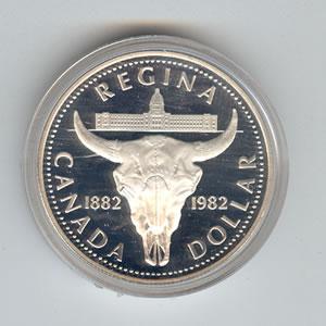 Canada 1982 silver dollar Regina
