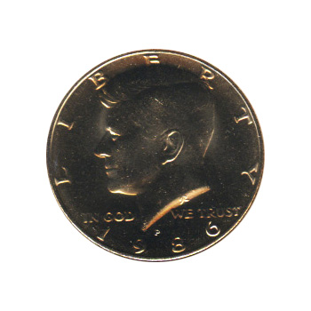 Kennedy Half Dollar 1986-P BU