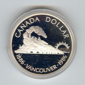 Canada 1986 silver dollar Vancouver