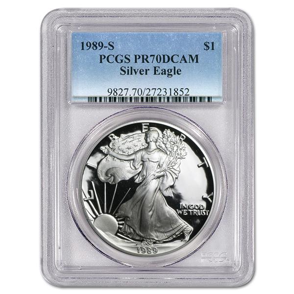 Certified Proof Silver Eagle 1989-S PR70DCAM PCGS
