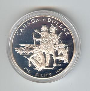 Canada 1990 silver dollar Kelsey