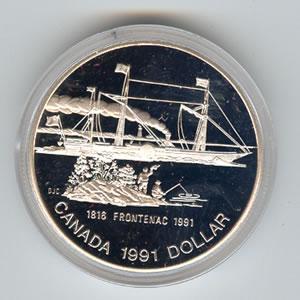 Canada 1991 silver dollar Frontenac