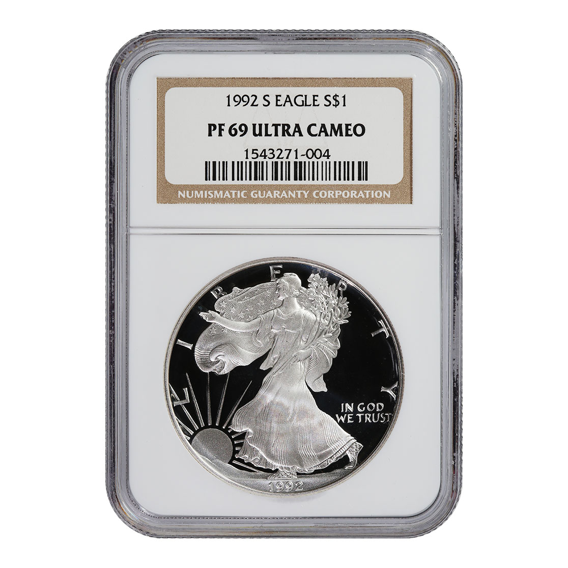 Certified Proof Silver Eagle PF69 1992