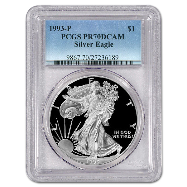 Certified Proof Silver Eagle 1993-P PR70DCAM PCGS