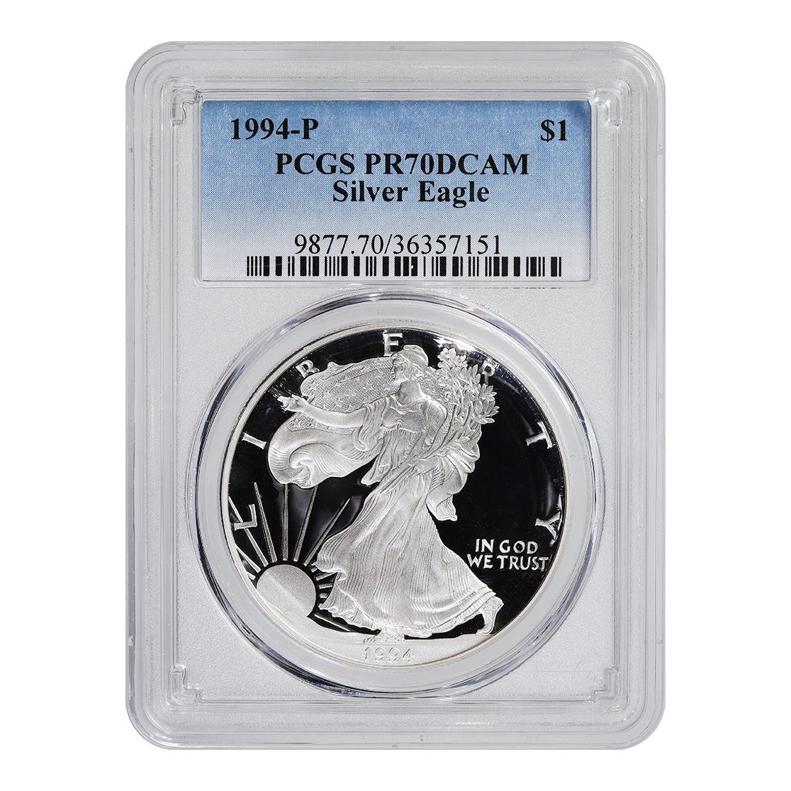 Certified Proof Silver Eagle 1994-P PR70DCAM PCGS