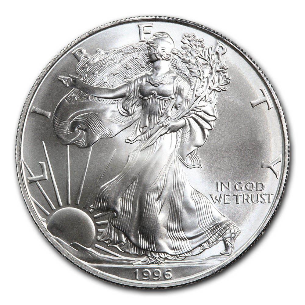 1996 1 oz Silver American Eagle BU