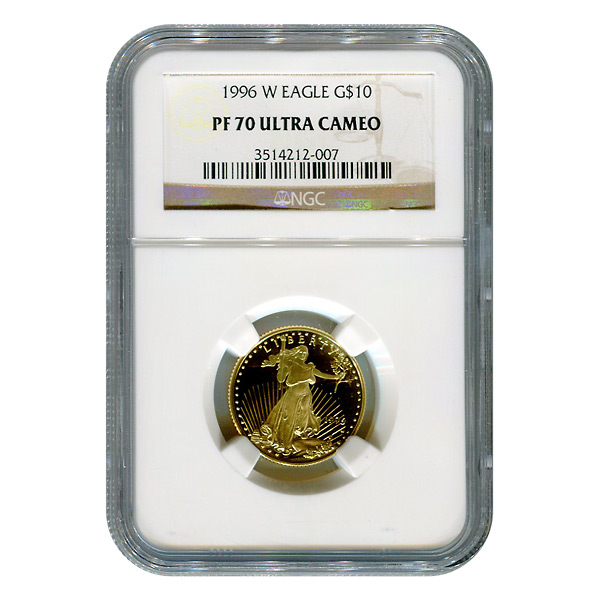 Certified Proof American Gold Eagle $10 1996-W PF70 NGC