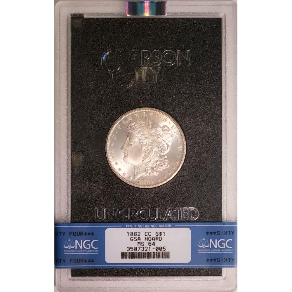 Carson City Morgan Silver Dollar 1882-CC GSA MS64 NGC