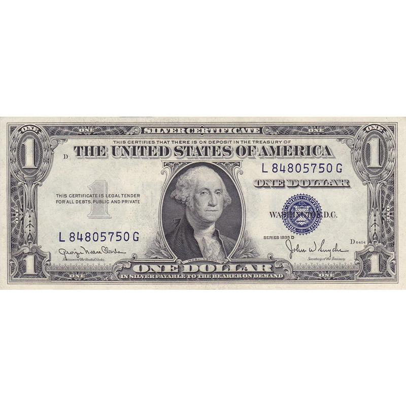 1935D $1 Silver Certificate, UNC