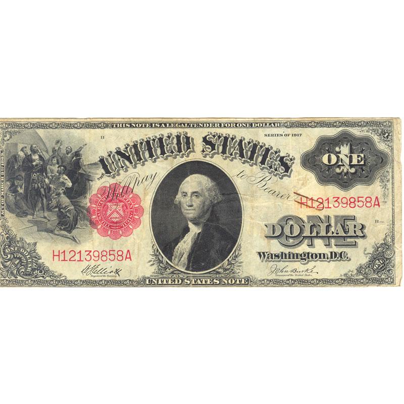 1917 $1 Legal Tender Note Fine