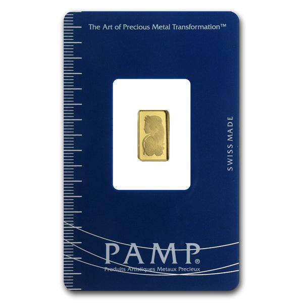 PAMP Suisse 1 Gram Gold Bar