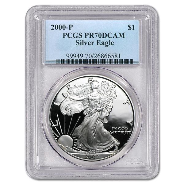 Certified Proof Silver Eagle 2000-P PR70DCAM PCGS
