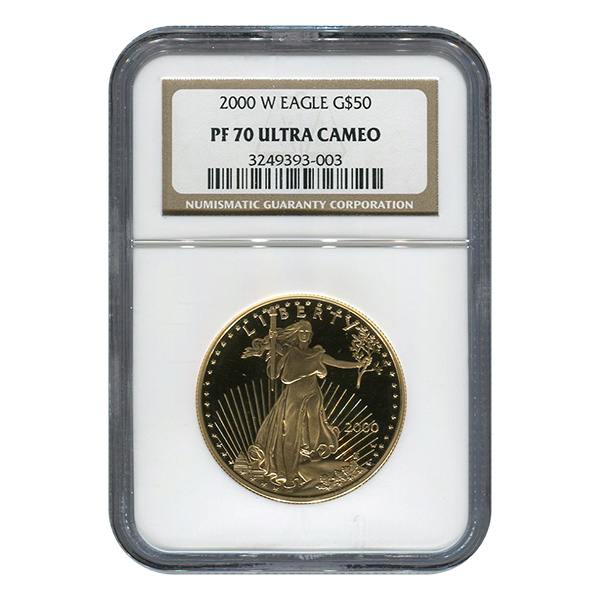 Certified Proof American Gold Eagle $50 2000-W PF70 NGC