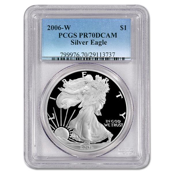 Certified Proof Silver Eagle 2006-W PR70DCAM PCGS