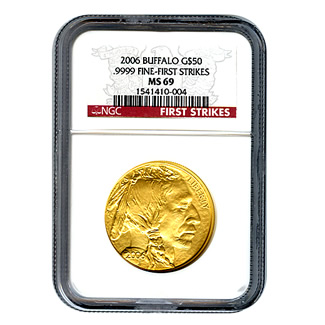 Certified Uncirculated Gold Buffalo 2006 MS69 First Strike
