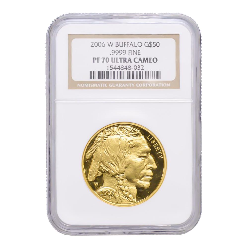 Certified Proof Buffalo Gold Coin 2006-W PF70 Ultra Cameo