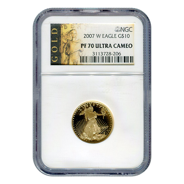 Certified Proof American Gold Eagle $10 2007-W PF70 NGC