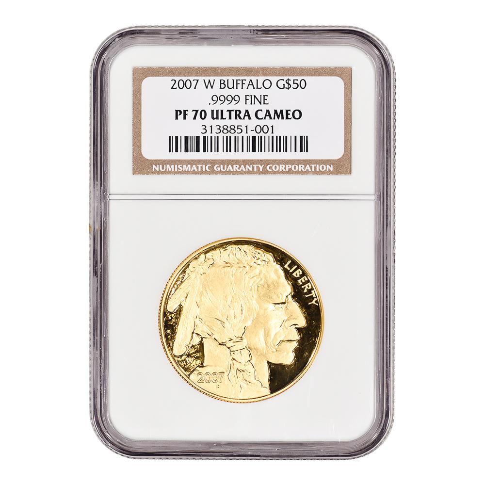 Certified Proof Buffalo Gold Coin 2007-W PF70 Ultra Cameo NGC