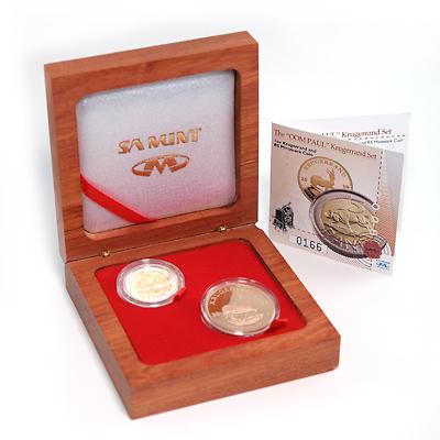 2008 South Africa Proof Gold Krugerrand 2-Piece Oom Paul Set