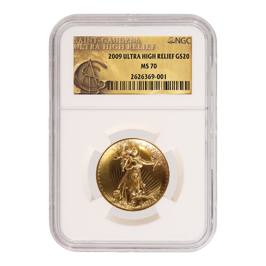 Certified 2009 Ultra High Relief Gold American Eagle MS70 NGC Gold Label