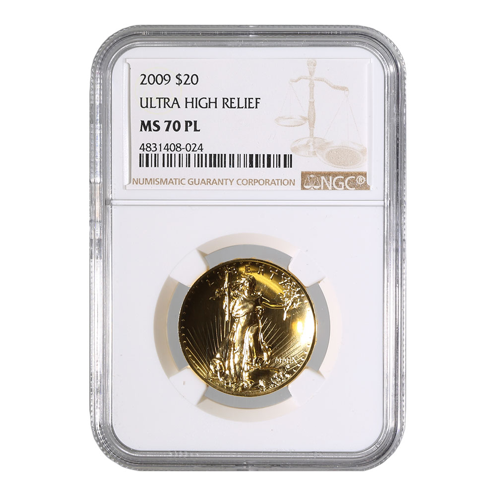 Certified 2009 Ultra High Relief MS70 PL NGC