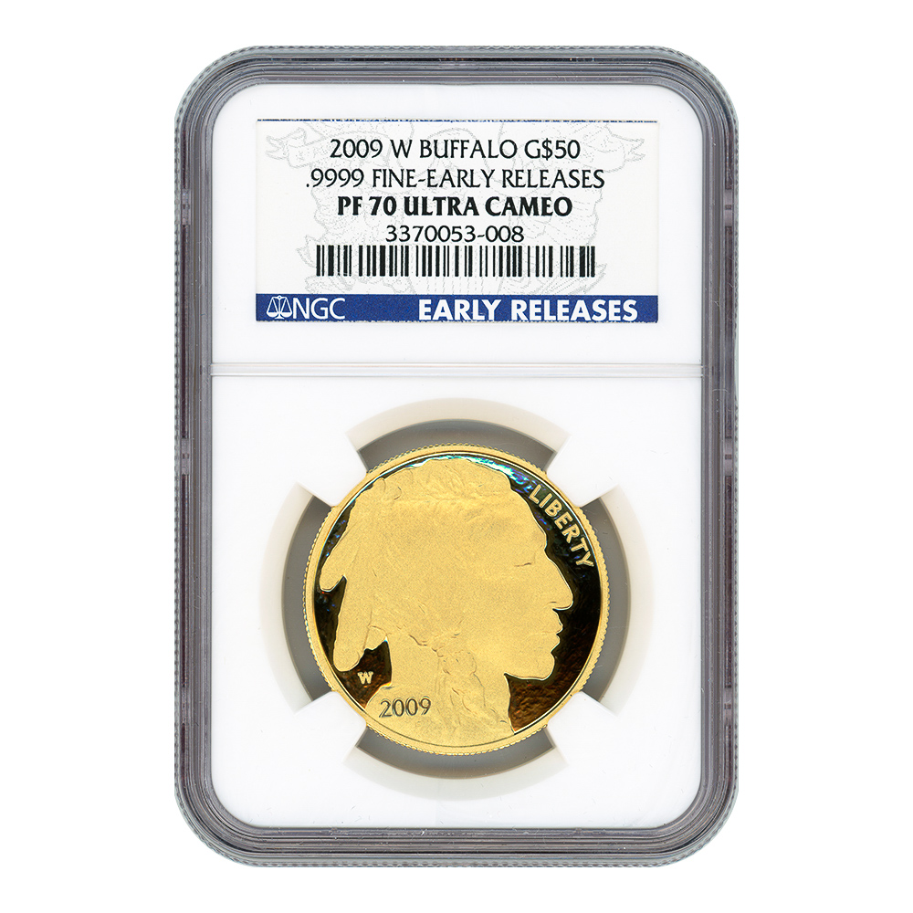 Certified Proof Buffalo Gold Coin 2009-W PF70 Early Release NGC