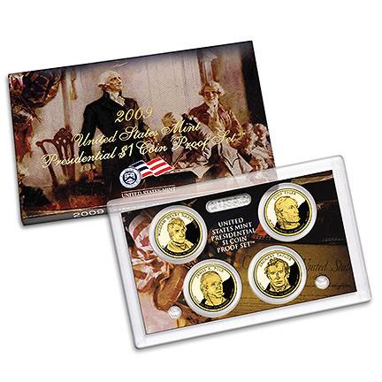 US Presidential Dollar 4pc Proof Set 2009
