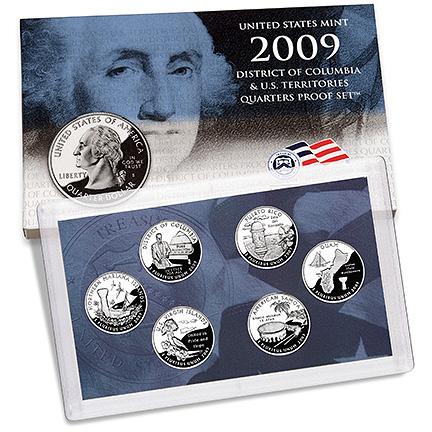 US Proof Set 2009 6pc (Quarters Only)