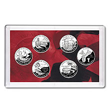 US Proof Set Statehood Silver Quarters Without Box 2009