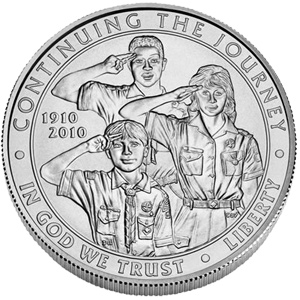 US Commemorative Dollar Uncirculated 2010-P Boy Scouts