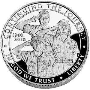 US Commemorative Dollar Proof 2010 Boy Scouts