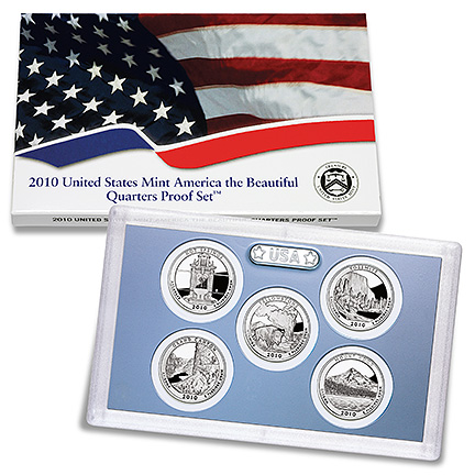 US Proof Set 2010 5pc (Quarters Only) America The Beautiful