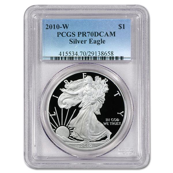Certified Proof Silver Eagle 2010-W PR70DCAM PCGS