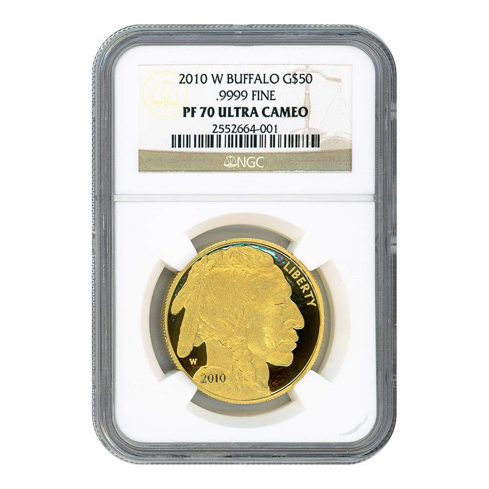 Certified Proof Buffalo Gold Coin 2010-W PF70 NGC