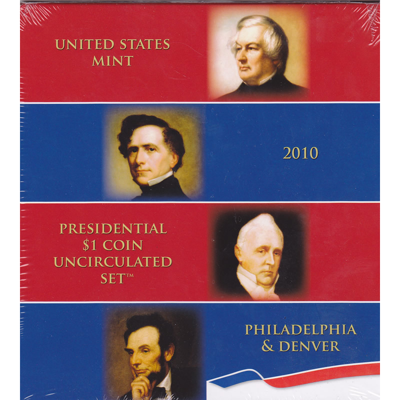 2010 Presidential $1 Coin Uncirculated Set