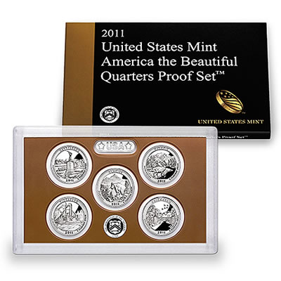 US Proof Set 2011 5pc (Quarters Only) America The Beautiful