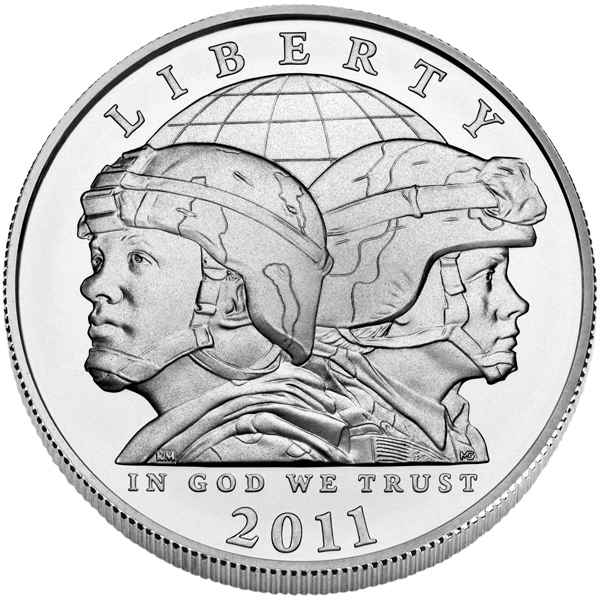 US Commemorative Dollar Uncirculated 2011-S Army